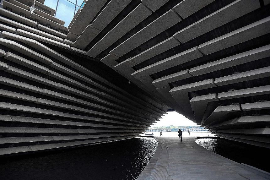 The V&A Dundee museum (left and above) is designed by Japanese architect Kengo Kuma.