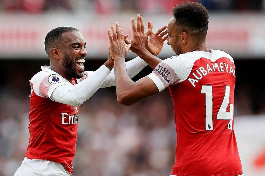 Arsenal's fortunes this season will depend heavily on the partnership of strikers Alexandre Lacazette and Pierre-Emerick Aubameyang.