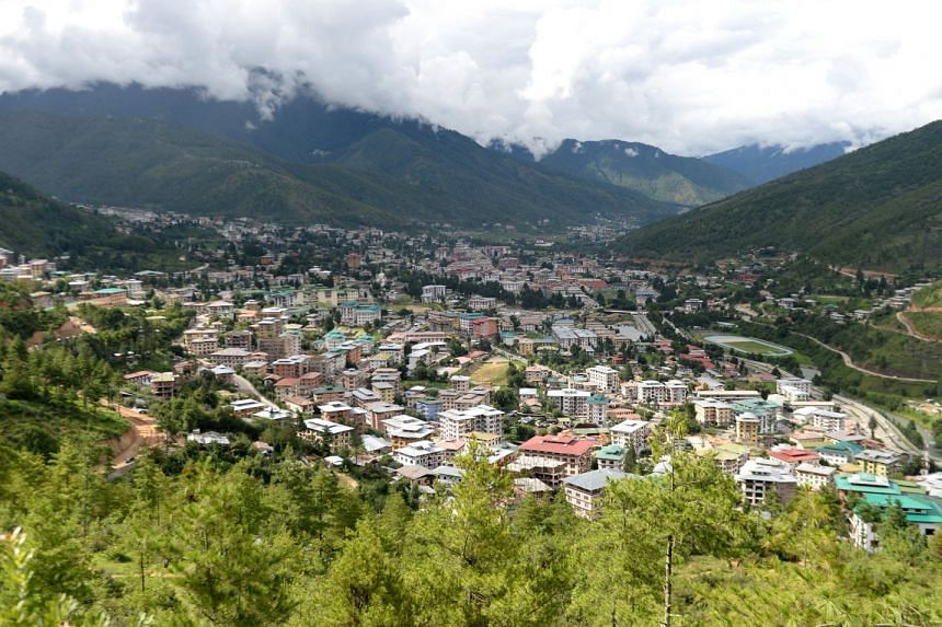 A general view of Bhutan's capital Thimphu, on Aug 25, 2018.