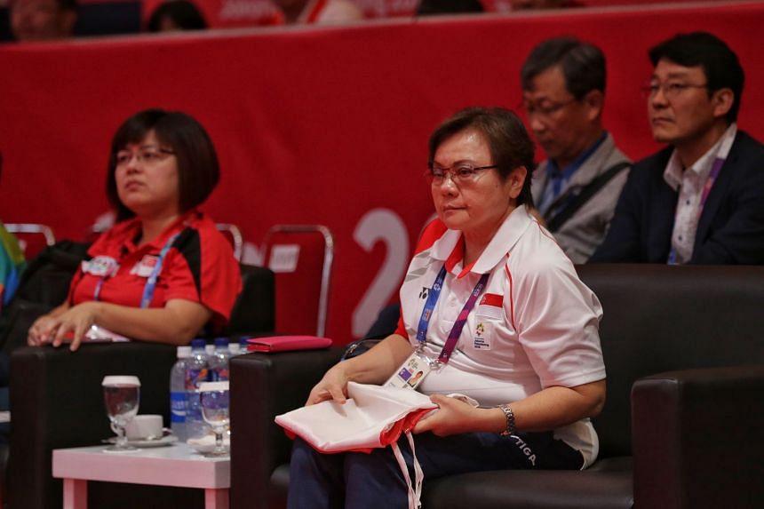 Ellen Lee won a third term at the Singapore Table Tennis Association's biennial election on Sept 15, 2018.