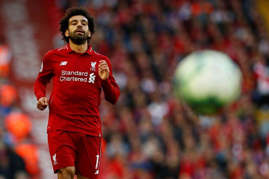 Liverpool's Mohamed Salah in action during a match against Brighton & Hove Albion, on Aug 25, 2018.