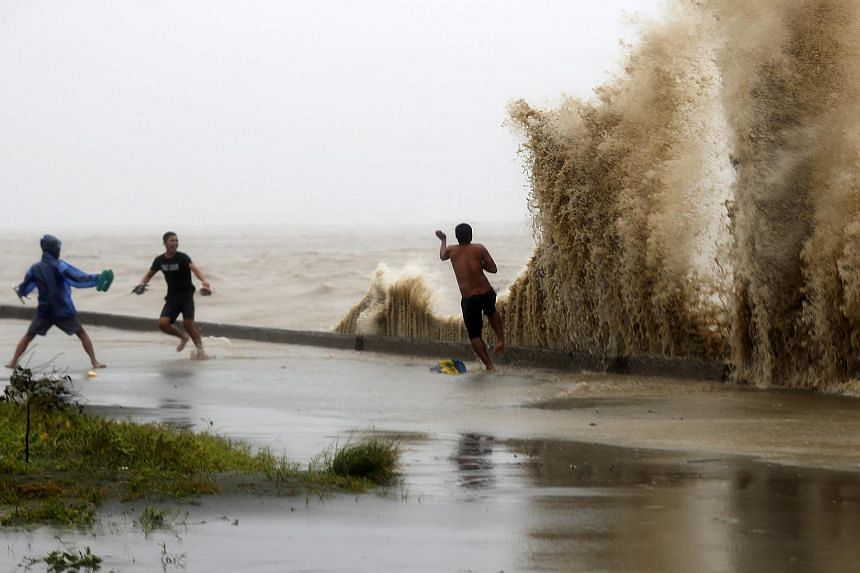 The coast of the typhoon-hit town of Aparri, Cagayan province, Philippines, on Sept 15, 2018.