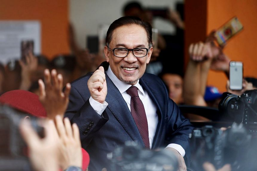 """Malaysian political leader Anwar Ibrahim (pictured) feels Singapore-Malaysia ties """"will improve"""" in the years after Tun Dr Mahathir hands over power."""