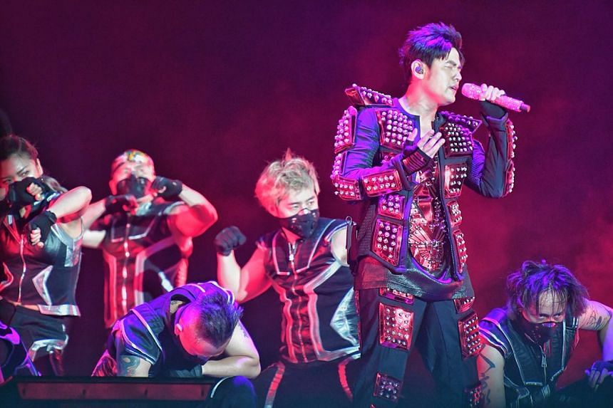 Taiwanese singer Jay Chou put on a packed 75-minute show for his audience of 45,000.