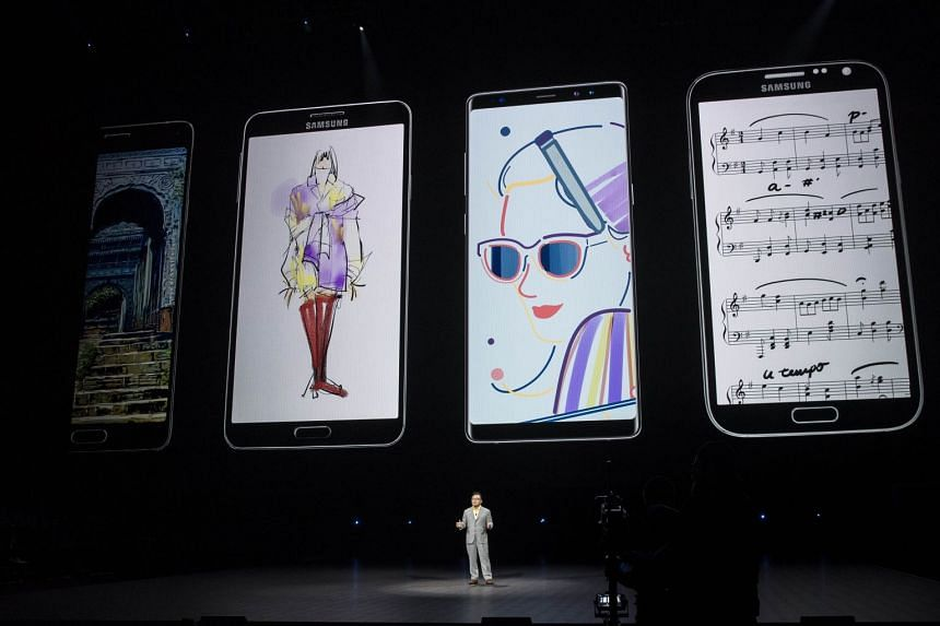 Samsung unveiled its latest flagship Galaxy Note 9 (above) in August 2018.