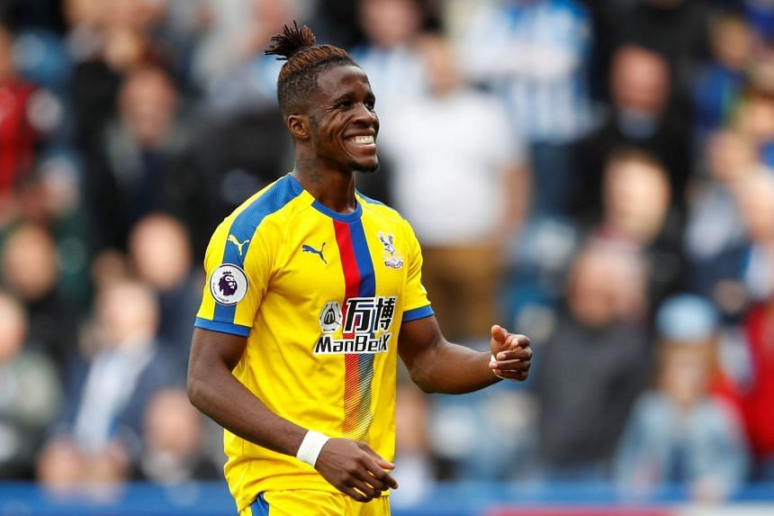Crystal Palace's Wilfried Zaha during the match.