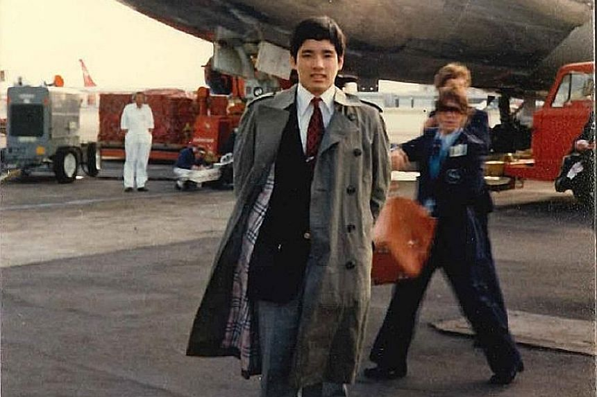 Mr Hori waiting to board a flight from Narita Airport to his high school in Sydney, Australia, when he was in his teens.