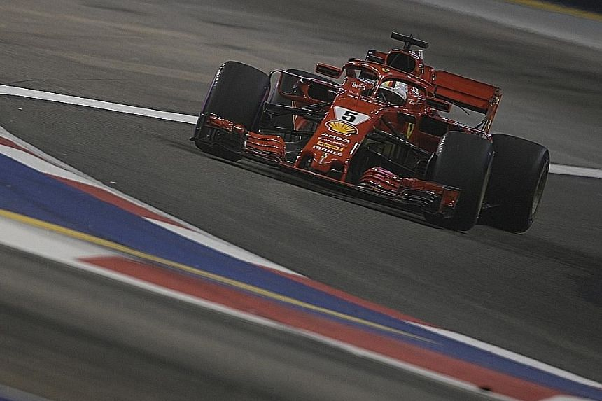 Despite starting on the second row in the Singapore Airlines Singapore Grand Prix, Ferrari's Sebastian Vettel is optimistic that he can still get the better of Mercedes' Lewis Hamilton tonight, and claw back the 30-point deficit between them in the d