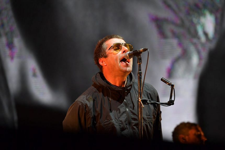 English singer Liam Gallagher performing at Padang Stage, Zone 4, Marina Bay Street Circuit on Sept 15, 2018.