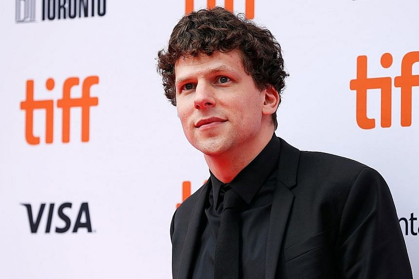 Jesse Eisenberg arriving at the world premiere of The Hummingbird Project at the Toronto International Film Festival earlier this month.