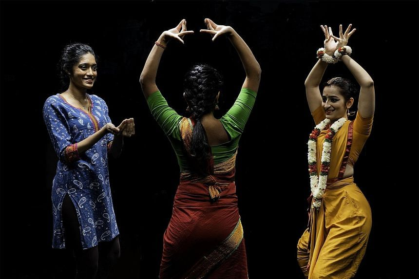 The NUS Indian Dance group working on the performance Maya Yatra. Geography students at the National University of Singapore could write a review of the dance analysing bodies as space and bodies moving through space.