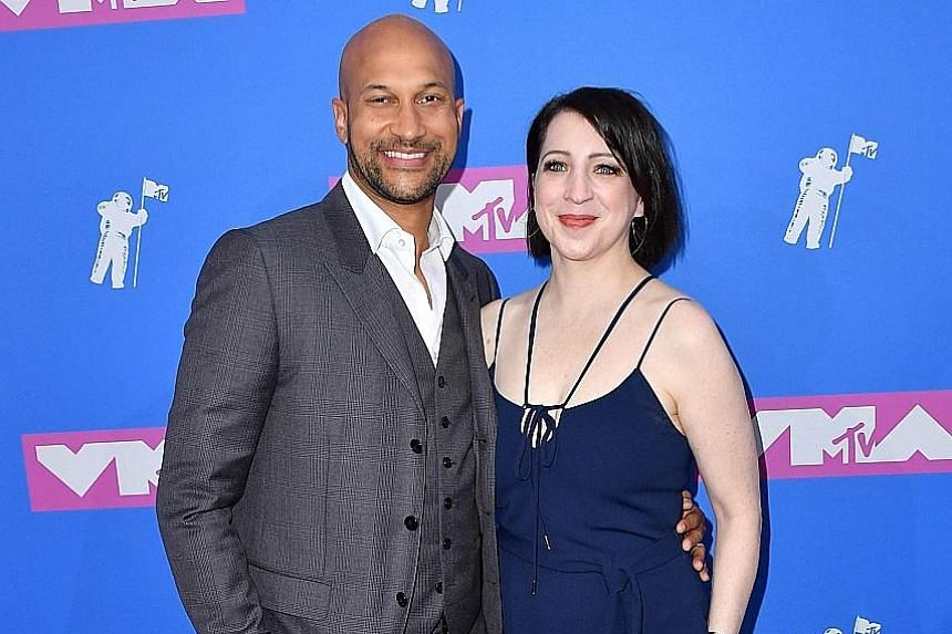 Actor Keegan-Michael Key and his wife, producer and director Elisa Key.