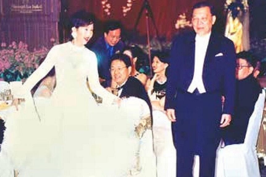 Dr Leong Heng Keng (above) in 2015, at the shooting range in Beach Road in 1968 (left) and stepping onto the dance floor with his wife, Madam Lo Tia Yia (below left), during his son's wedding dinner in 1998.