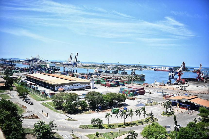 An aerial view of the Kuantan Port, located north of Kuantan city and facing the South China Sea. The port was earmarked as the eastern point of the planned East Coast Rail Link.
