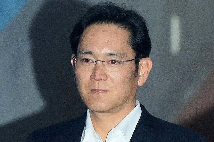 Samsung's Mr Lee Jae-yong (above) and other prominent figures in the economy, and in religion, culture and sports, will travel with President Moon Jae-in to Pyongyang.
