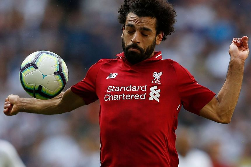 Liverpool's Egyptian midfielder Mohamed Salah during the English Premier League match with Tottenham Hotspur at London's Wembley Stadium on Sept 15, 2018.
