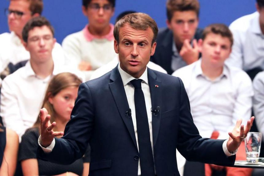 France's President Emmanuel Macron speaks during an event at the Philharmonie Luxembourg in Luxembourg on Sept 6, 2018, on the sidelines of a meeting on the future of the European Union.