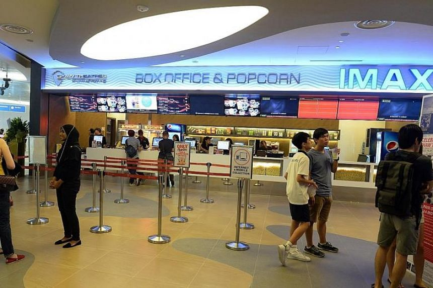 No food counter in local cinemas, including Shaw Theatres (above) is halal-certified.