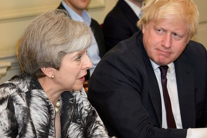 """Prime Minister Theresa May slammed former foreign secretary Boris Johnson for using """"completely inappropriate"""" language over her Brexit plan."""