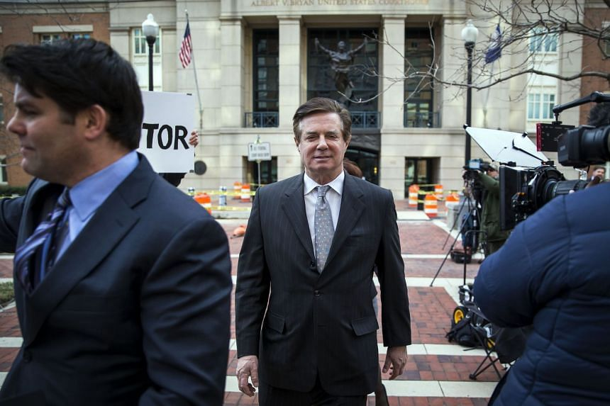 Paul Manafort, US President Donald Trump's former campaign chairman, departs an arraignment hearing on March 8, 2018.