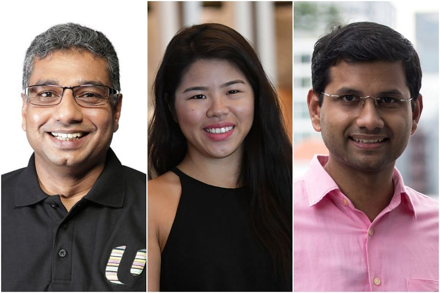 Nine new NMPs have been selected, including (from left) Arasu Duraisamy, labour unionist, Yip Pin Xiu, paralympian swimmer and Ali Mohamed Irshad, founder of inter-religious non-profit group Roses of Peace.