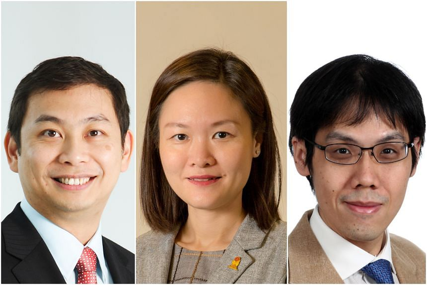 Nine new NMPs have been selected, including (from left) Douglas Foo Peow Yong, Sakae Holdings Chairman, Irene Quay Siew Ching, president of the Pharmaceutical Society of Singapore and Walter Edgar Theseira, labour economist and associate professor.