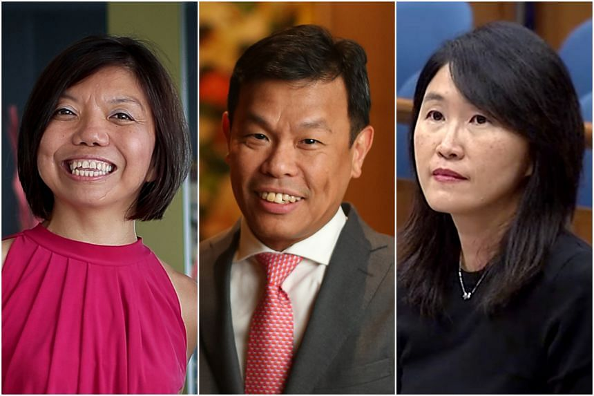 Nine new NMPs have been selected, including (from left) Anthea Ong Lay Theng, corporate social responsibility consultant, Ho Wee San, executive director of the Singapore 