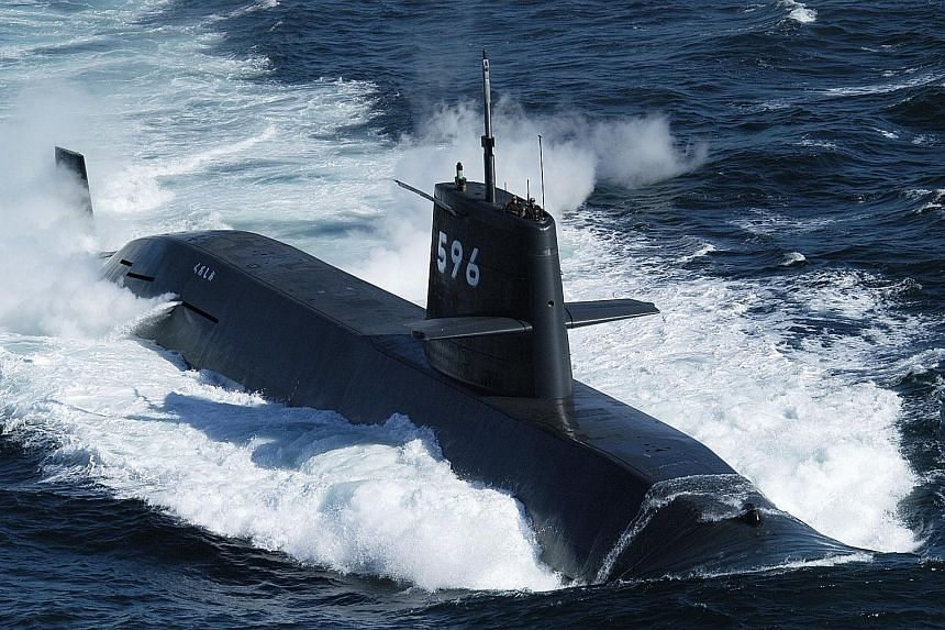 The Kuroshio at sea. Japan's Ministry of Defence says the submarine, along with the Kaga helicopter carrier and other warships, took part in a naval drill in the South China Sea last Thursday.