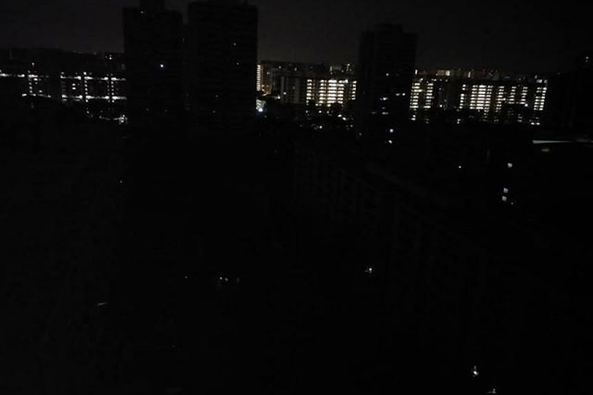 Several parts of Singapore, such as Bedok North Avenue 2, were hit by a blackout in the wee hours of Sept 18, 2018.
