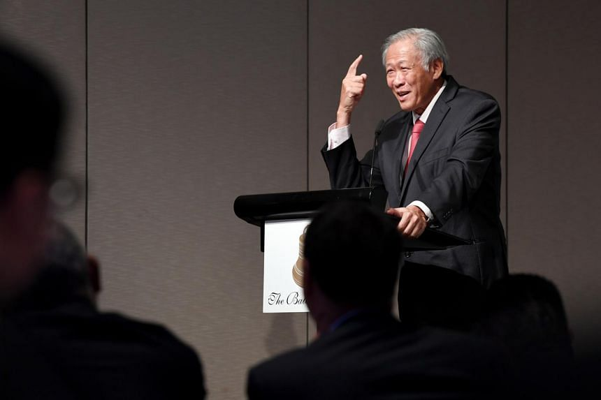 Defence Minister Ng Eng Hen called for a global order underpinned by a unifying vision that brings people and countries together.