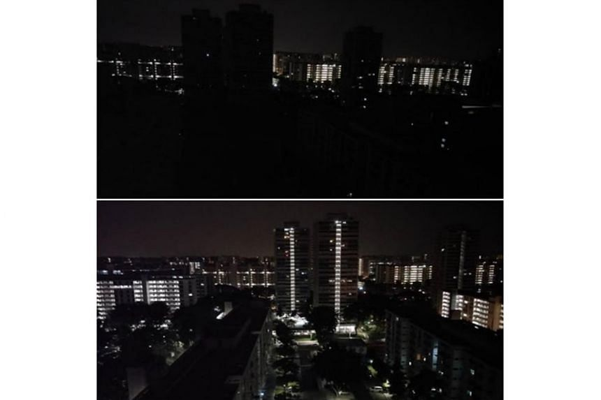 Several parts of Singapore, such as Bedok North, were hit by a blackout in the wee hours of Sept 18, 2018.