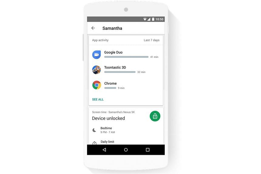 With Google's Family Link app, parents can see how much time their child is spending on his favourite apps.