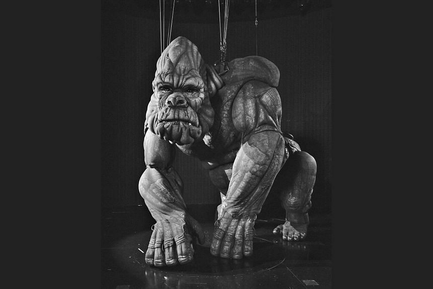 The King Kong marionette is 6m tall and weighs more than 900kg. The animatronic ape requires 14 performers and 16 micro-processors to operate.