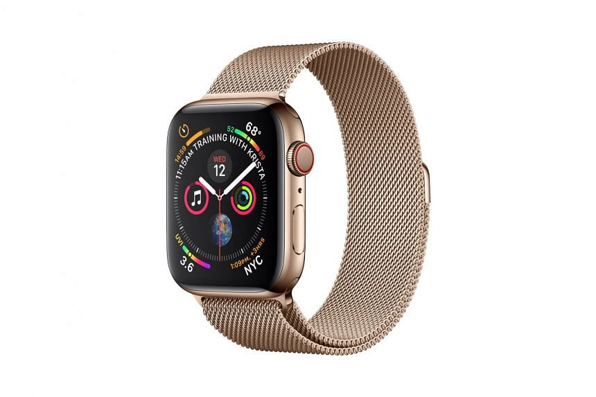 The new Apple Watch now comes in only aluminium and stainless steel cases. PHOTO: APPLE