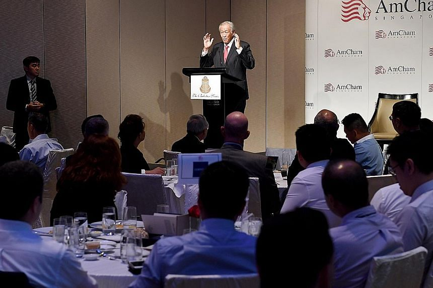 "In his speech at the American Chamber of Commerce event yesterday, Defence Minister Ng Eng Hen said new rules will be written as power configurations alter, and ""we will have to work to ensure these new rules for Globalisation 2.0... will be open, tr"