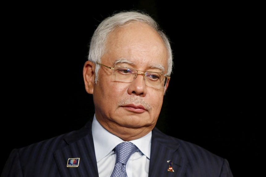 Former Malaysian premier Najib Razak was arrested at the headquarters of the Malaysian Anti-Corruption Commission in Putrajaya, on Sept 19, 2018.