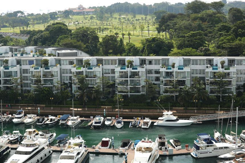 Average residential prices at Sentosa Cove are down almost 30 per cent from their 2011 highs, a far more severe slump than in prime central London areas reeling from Brexit.