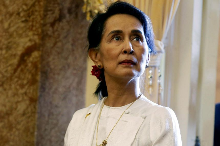 Myanmar's State Counsellor Aung San Suu Kyi pictured at the Presidential Palace in Hanoi, Vietnam, on Sept 13, 2018.