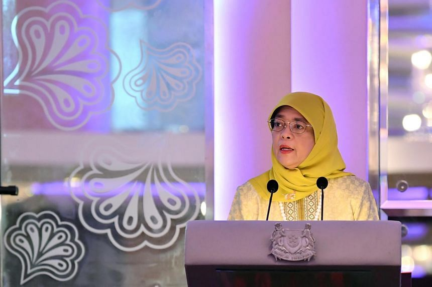President Halimah Yacob encouraged Singaporeans who work and live in Malaysia to maintain the strong networks and friendships.