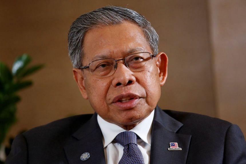 Veteran Malaysian politician Mustapa Mohamed (above) said he was issuing a statement to clarify the matter following allegations made by Umno secretary-general Annuar Musa.