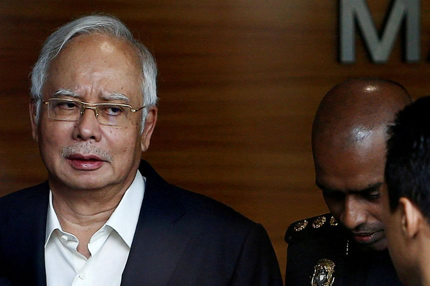 Malaysia's former prime minister Najib Razak arriving to give a statement to the Malaysian Anti-Corruption Commission in Putrajaya, Malaysia, on May 24, 2018.