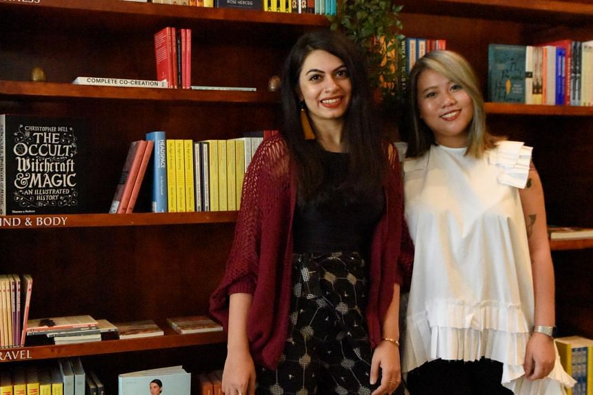 Sarah Naeem (left), owner of The Moon, with her right-hand woman Li Jia Qian. The Moon is a new independent bookstore with a focus on female writers and diverse books.