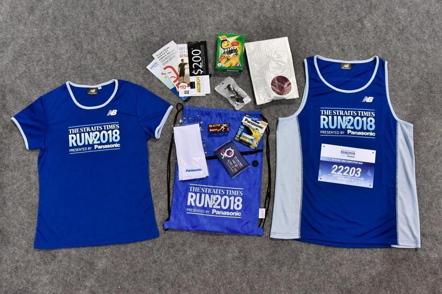 The ST Run race pack.