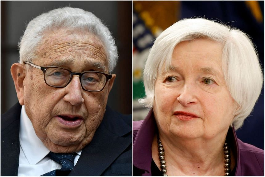 American statesman Henry Kissinger (left) and former US Federal Reserve chair Janet Yellen are among a long list of top names who will be in Singapore in November for the business forum.