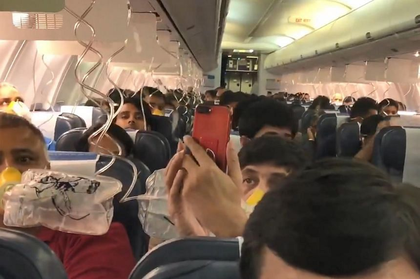 The Boeing 737 aircraft belonged to private carrier Jet Airways and it was on its way to the western Indian state of Rajasthan's capital Jaipur with 166 passengers on board.