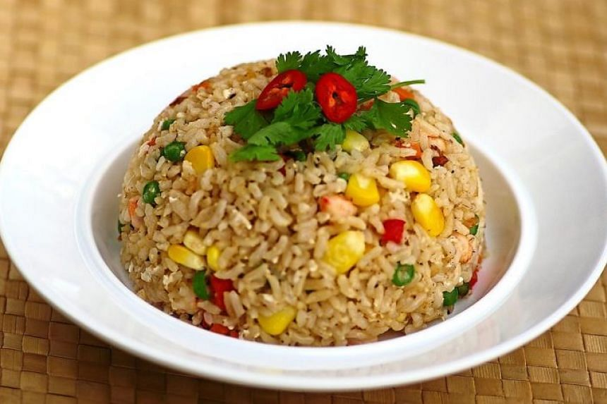 Make a healthier version of nasi goreng with brown rice instead.