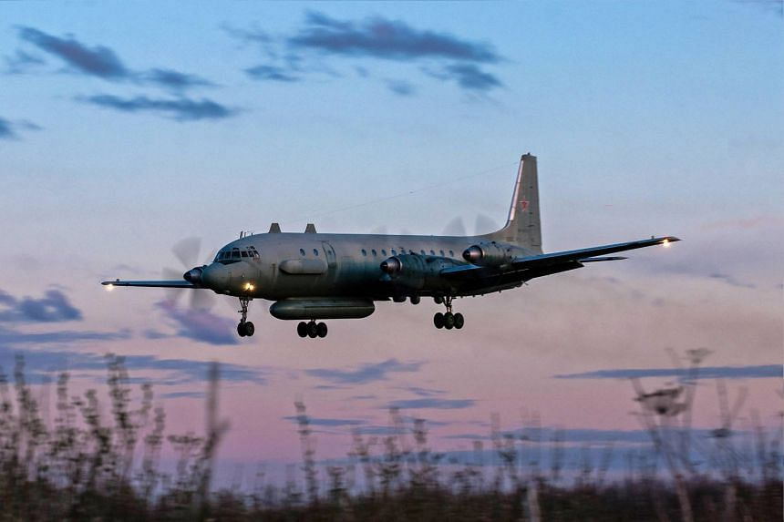A Russian IL-20M military plane, similar to that which was brought down.