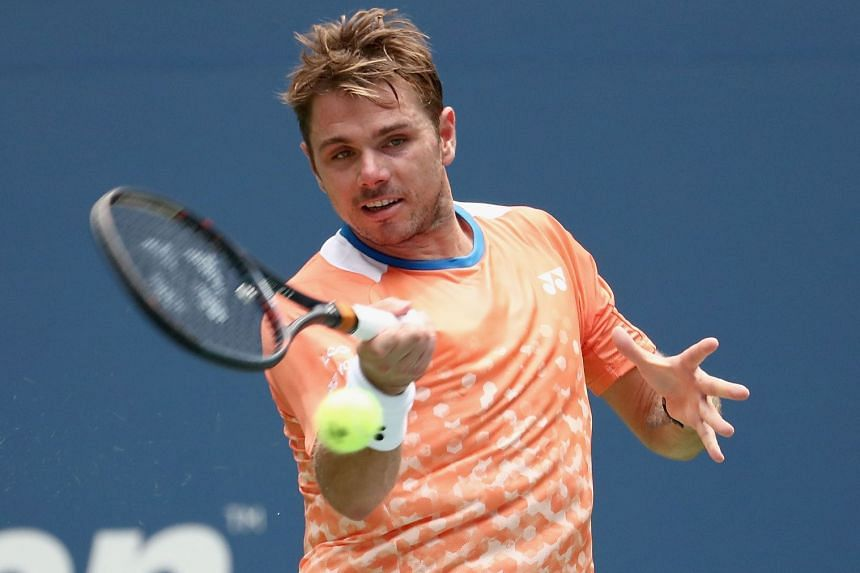 Wawrinka in action during the 2018 US Open.