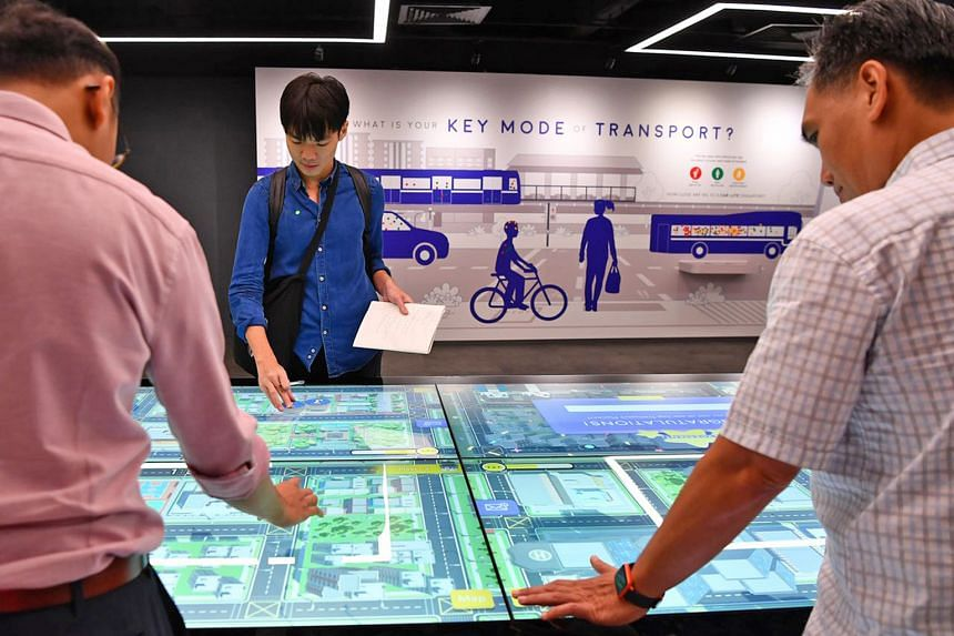 At the SG Mobility Gallery, visitors can turn city planner for a day and try their hand at solving urban commuting problems in a computer game. They can also drive a bus - just by wearing virtual reality headsets.