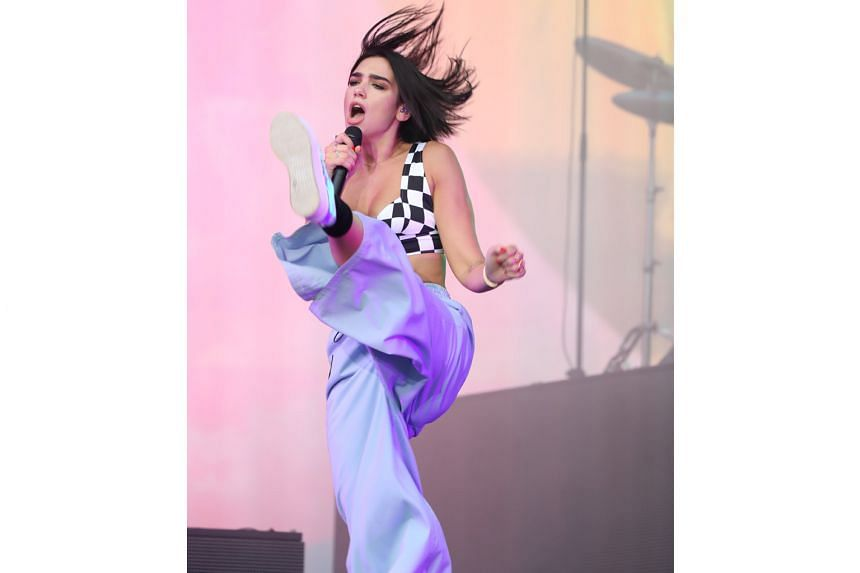 Singer Dua Lipa performed at the Formula 1 2018 Singapore Airlines Singapore Grand Prix concert at the Padang on Sunday.